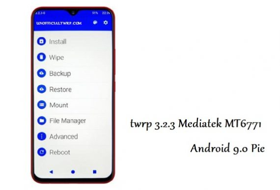 Download twrp 3 2 3 For android 9 0 Pie MT6771 - twrp unofficial